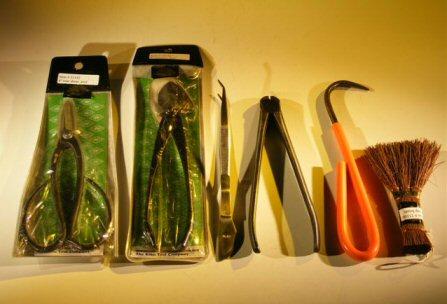 Professional Bonsai Tool Set 6 Piece Plus Hemp Brush - (Save $19.95)